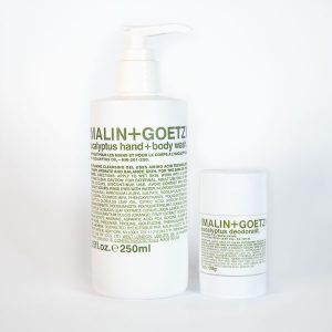 Malin + Goetz kit Skin Care body wash+deodorant